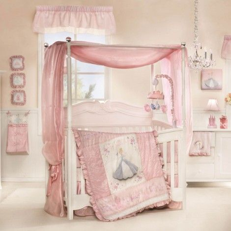 DIED over this Cinderella crib set in Babies R Us. Love the vintage look it has to it. Definitely have my girl room picked out ;)
