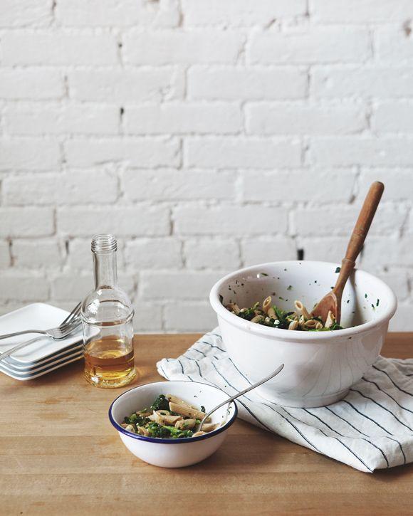 Broccoli Rabe Pasta Salad With Meyer Lemon Vinaigrette | Free People Blog #freepeople
