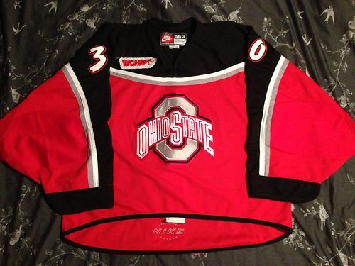 Game worn Ohio State 00/01 hockey jersey with WCHA patch ending today!