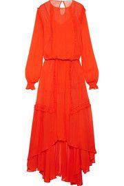 Мартина взъерошенная шифоновое платье макси