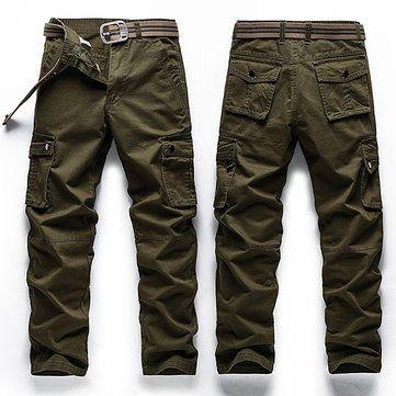 Mens Outdoor Sport Pants Elastic Waist Soft Shell Warm Fleece Lining Waterproof Quick-Dry Trouser - Newchic Mobile.