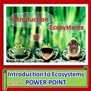 INTRO TO ECOSYSTEMS POWERPOINT:  This fully editable powerpoint covers 1) biology, ecology 2) ecosystems (biotic components, abiotic components) 3) types of ecosystems (terrestrial, aquatic, marine, freshwater, artificial, natural) 4) biodiversity (hotspots, habitat, habitat destruction) 5) ecological niche 6) groupings of life (individual, population, community, ecosystem, biome, biosphere) 7) defining a species 8) sustainability and stewardship 9) Easter Island case study.