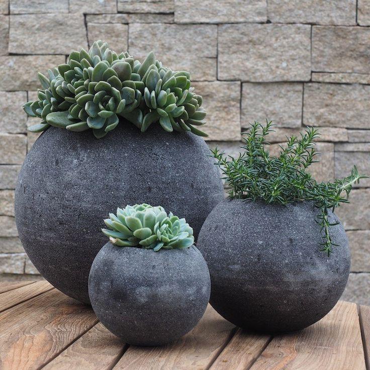 lava stone jardinieres