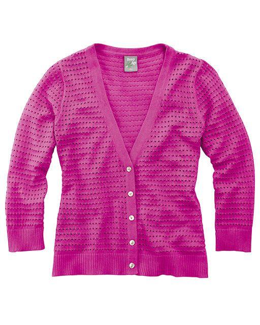 JOHANNA dámský svetr z biobavlny a konopí - růžová candy  - fair trade oblečení z biobavlny, bambusu, konopí, modalu, tencelu a merino, přírodní kosmetika, bambucké máslo, fairtrade bytové doplňky
