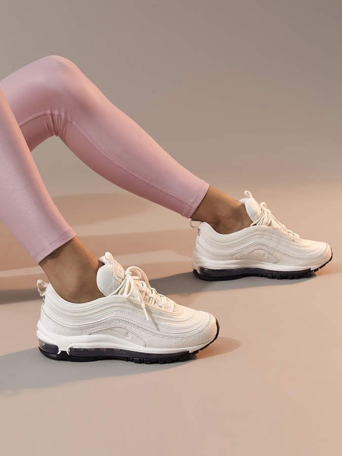 wearing nike air max 97 white womens