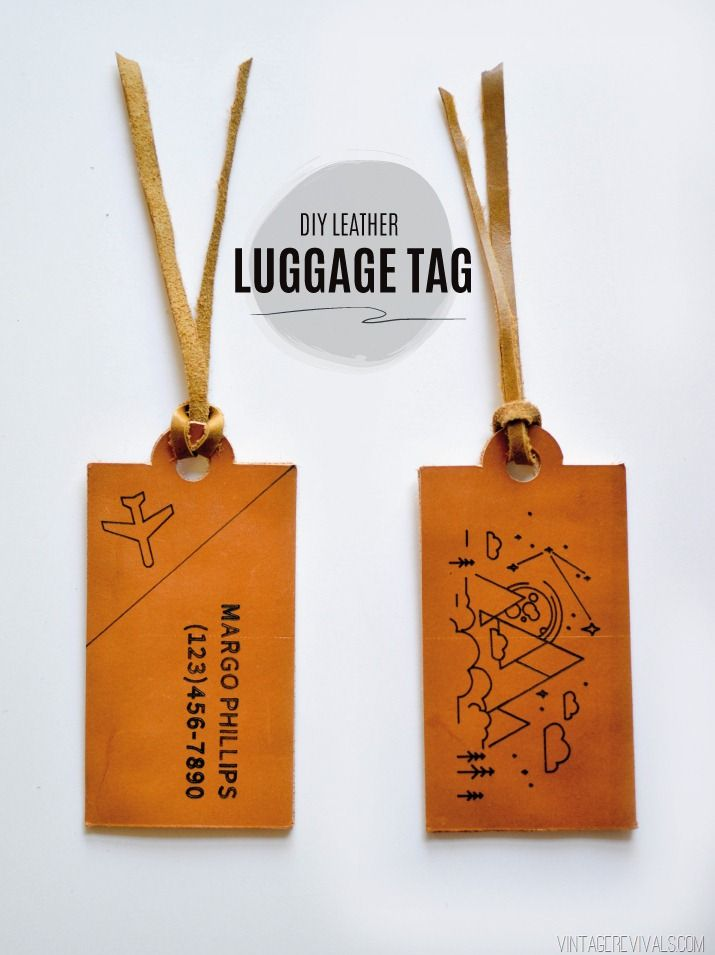 create diy leather luggage tags by vintage revivals with your cricut