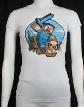 Get this Officially Licensed Minecraft Pig Riding T-Shirt Girls for the lowest price from merch2rock.com