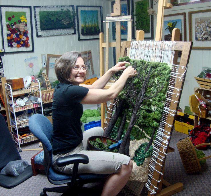Dimensional Weaving - Martina Celerin 3D fiber art: Back from Michigan!