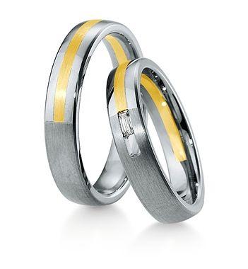 Breuning Trouwringen   Inspiration collectie gouden ringen   4,5mm briljant 0.06ct verkrijgbaar in 8,14 en 18 karaat   48041670 / 48041680 OOK in wit geel en rood goud verkrijgbaar of in 2 kleuren goud #trouwringen #breuning #trouwen