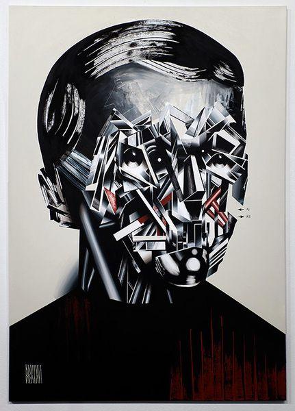 "Anno Domini presents Bohdan Burenko HEADS    Bohdan Burenko  HEAD No. 6   acrylic on canvas, 68"" x 46"". 2016    Please inquire for availability & price: cherri@galleryAD.com"