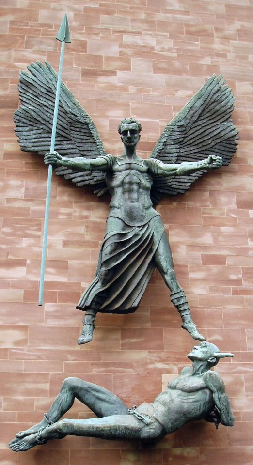 The Archangel Michael Vanquishing the Devil - Jacob Epstein, Coventry Cathedral