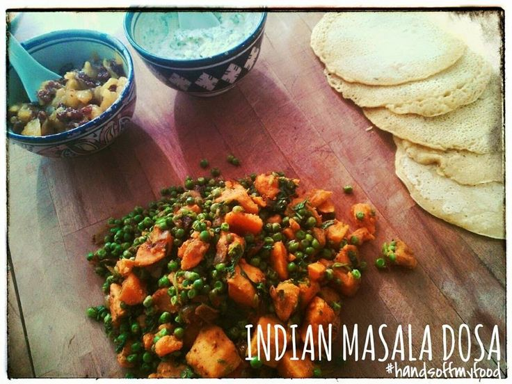 HandsoffmyFOOD!: VEGAN VIBES: Indian Masala Dosa #mangorozijnenchutney en #kokosraita ... Waisda?Daisgoe!