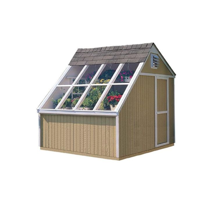 Handy home products phoenix 10 ft x 8 ft solar shed with for Two floor shed