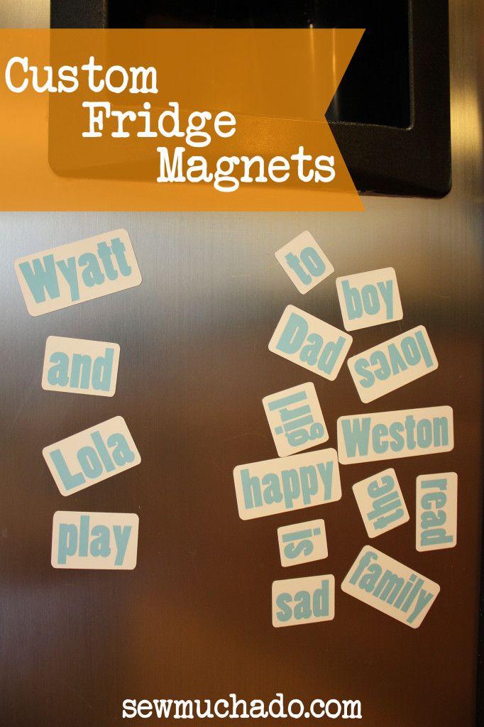 DIY Custom Fridge Magnets and Silhouette Promo!