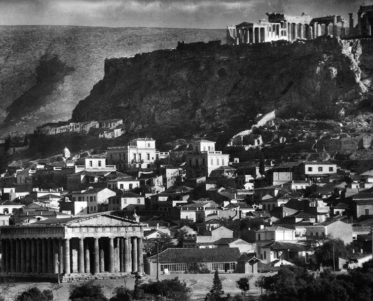 View of Acropolis from Thissio, 1920 by Frederic Boissonnas
