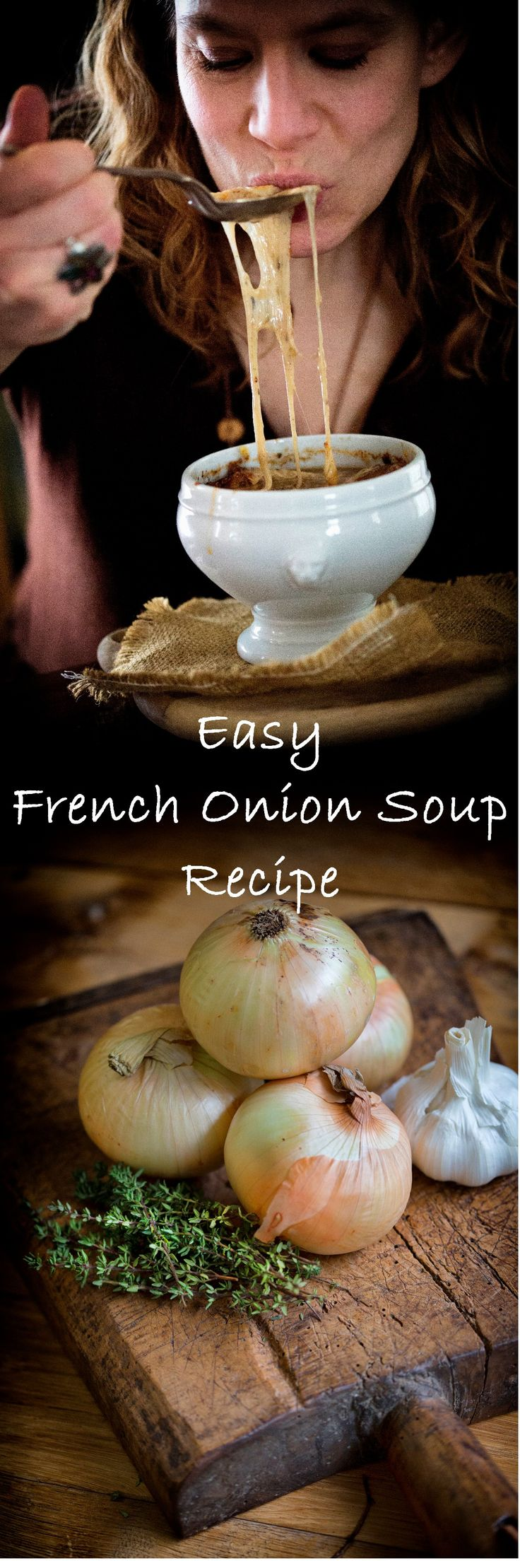 Quick and Easy recipe for French Onion Soup;  Classic French food perfect for a cold Winter's day French Food Recipes  #Frenchrecipes #Frenchfood http://eattillyoubleed.com/2016/01/french-onion-soup/