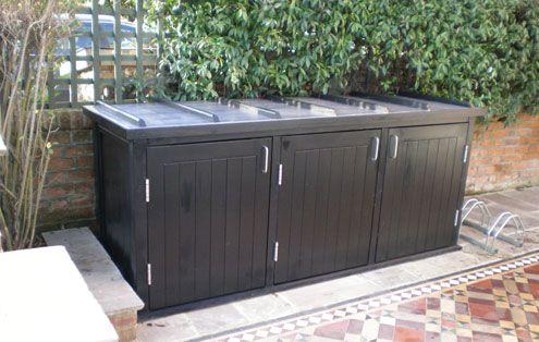 contemporary garden bin & recycling storage