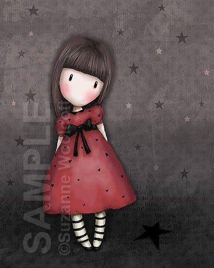 The Black Star 8 x 10 Giclee Fine Art Print Gorjuss by gorjuss