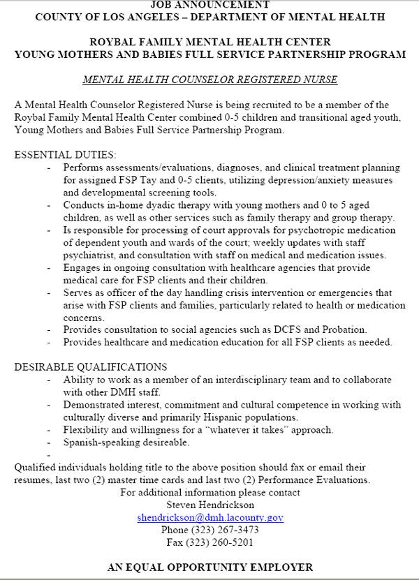 Best 25+ Counselor job description ideas on Pinterest Myers - behavioral health specialist sample resume