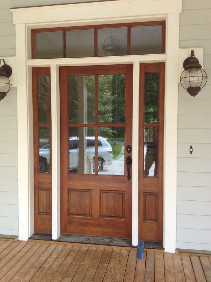 Front doors doors and worthing on pinterest for Front door with transom above