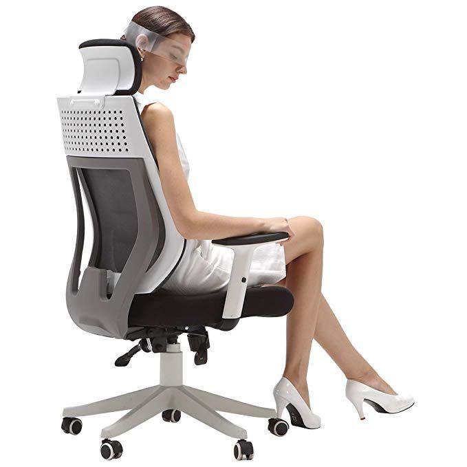 Hbada Ergonomic Office Chair High Back Adjustable Desk Chair Mesh Swivel Computer Chair With Headrest And Lu Ergonomic Office Chair Desk Chair Office Chair