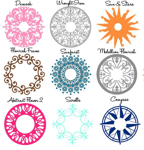 Ceiling Medallion Wall Decal-Medallion-Lighting by GiftQueenGifts