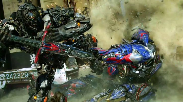 Transformers: Age of Extinction - CLIP: Optimus vs. Lockdown Final Fight (2014) | IMAX - YouTube
