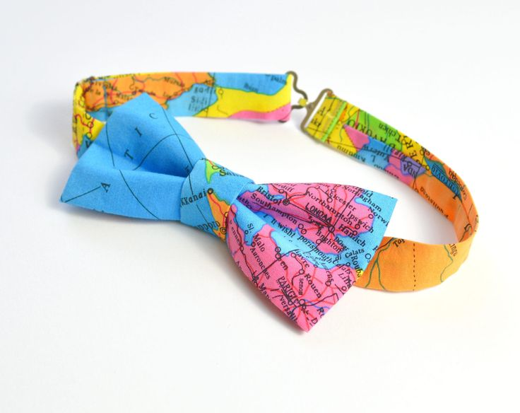 Globe bow tie, world map bow tie, travel wedding bow tie, destination wedding bow tie, geography bow tie, wanderlust bow tie, UK bow tie by MissEngagedBoutique on Etsy