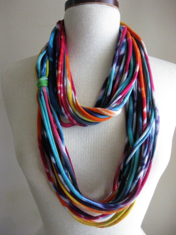 tshirt scarf out of tie dye t-shirt!