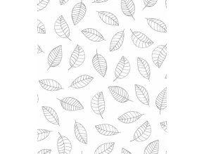 LilipinsoTapeta vliesová Leaves černá