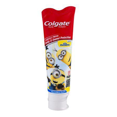 Colgate Minions Fluoride Toothpaste Mild Bubble Fruit, 4.6 OZ