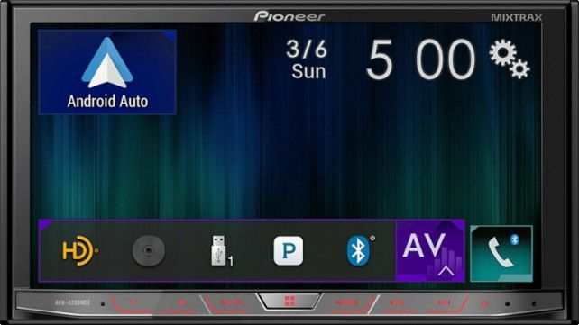 "Pioneer - 7"" - Android Auto/Apple CarPlay™ - Built-in Bluetooth - In-Dash CD/DVD/DM Receiver - Black - AlternateView12 Zoom"