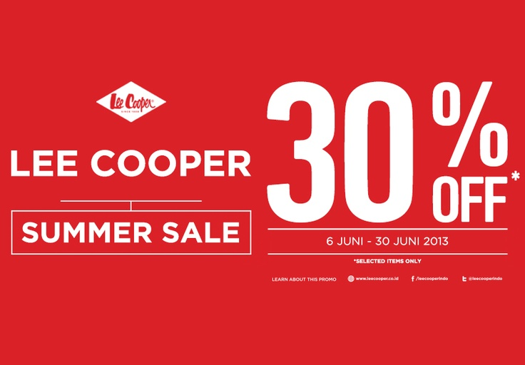 Lee Cooper Summer Sale!