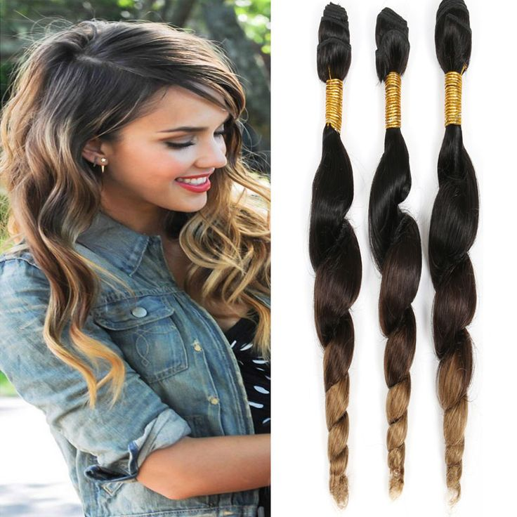 Ombre Brazilian Virgin Hair Loose Wave Cheap Human Hair Extensions Loose Curly Wet and Weave SPARK Hair Prdoucts Loose Deep