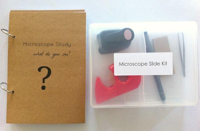 DIY Microscope Slide Kit for Kids by How We Montessori