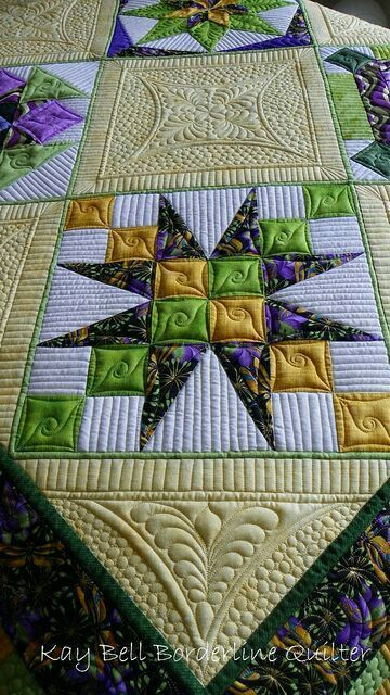 detail of dragonfly quilt