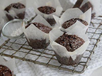 Gluten Free Chocolate Fudge Muffins