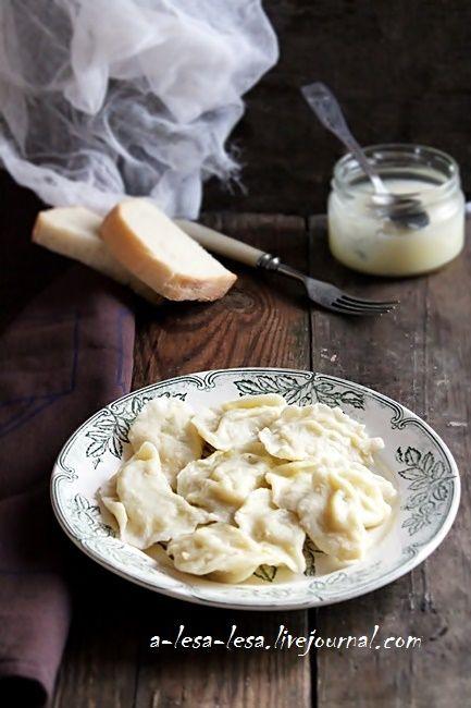 Вареники с картофелем и укропом (тесто на кипятке)