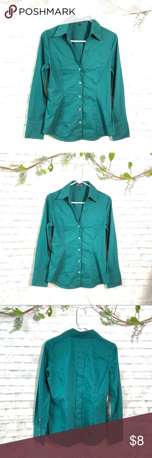 "Express design studio medium teal blouse Great condition! 19"" chest measurements Express Tops Blouses"