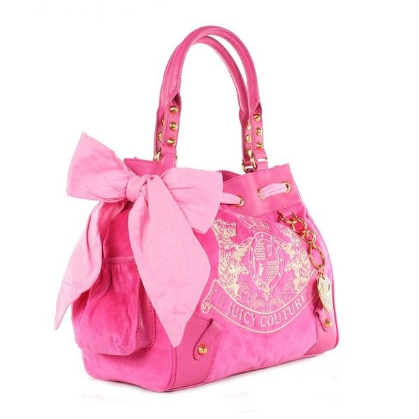 Juicy Couture Womens Scottie Embroidery Dragon Fruit Pink Daydreamer... ($300) ❤ liked on Polyvore