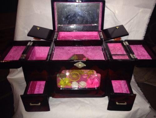 Rare High End Vintage Japan Japanese Jewelry Box Toyo Music Box