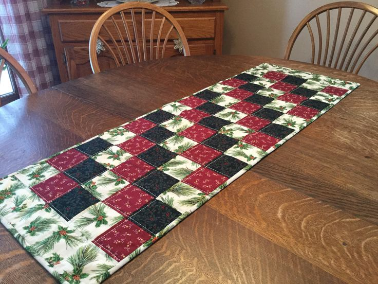 Excited to share the latest addition to my #etsy shop: Quilted table runner, Christmas table runner, Quilted Christmas table runner, Christmas table linens, table runner http://etsy.me/2BXcYXd #housewares #red #christmas #green #cotton #holidayrunner #christmaslinens #