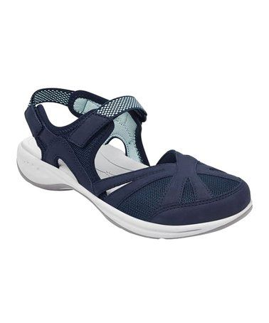 Another great find on #zulily! Dress Blue Splash Leather Sandal by Easy Spirit #zulilyfinds