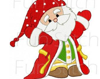 Santa A Machine Embroidery Design for Christmas by SewArtBySue