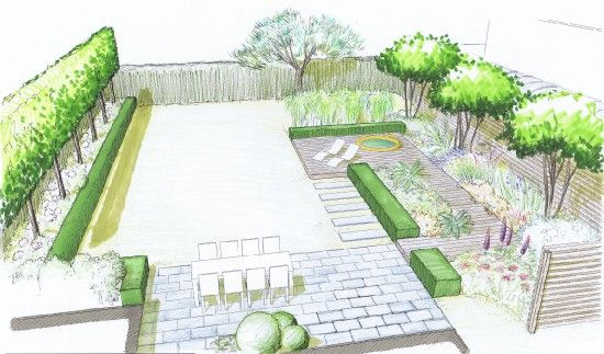 1000 images about landscape plans on pinterest gardens - Jacuzzi para jardin ...