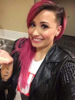 Chatter Busy: Demi Lovato Partially Shaved Head (PHOTOS)