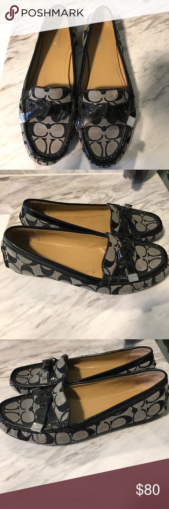 Coach Driving Loafers 9.5 These are in nice used condition. Only worn a handful of times, small scuffs on toe as shown in pics. Women's size 9.5 Coach Shoes Flats & Loafers