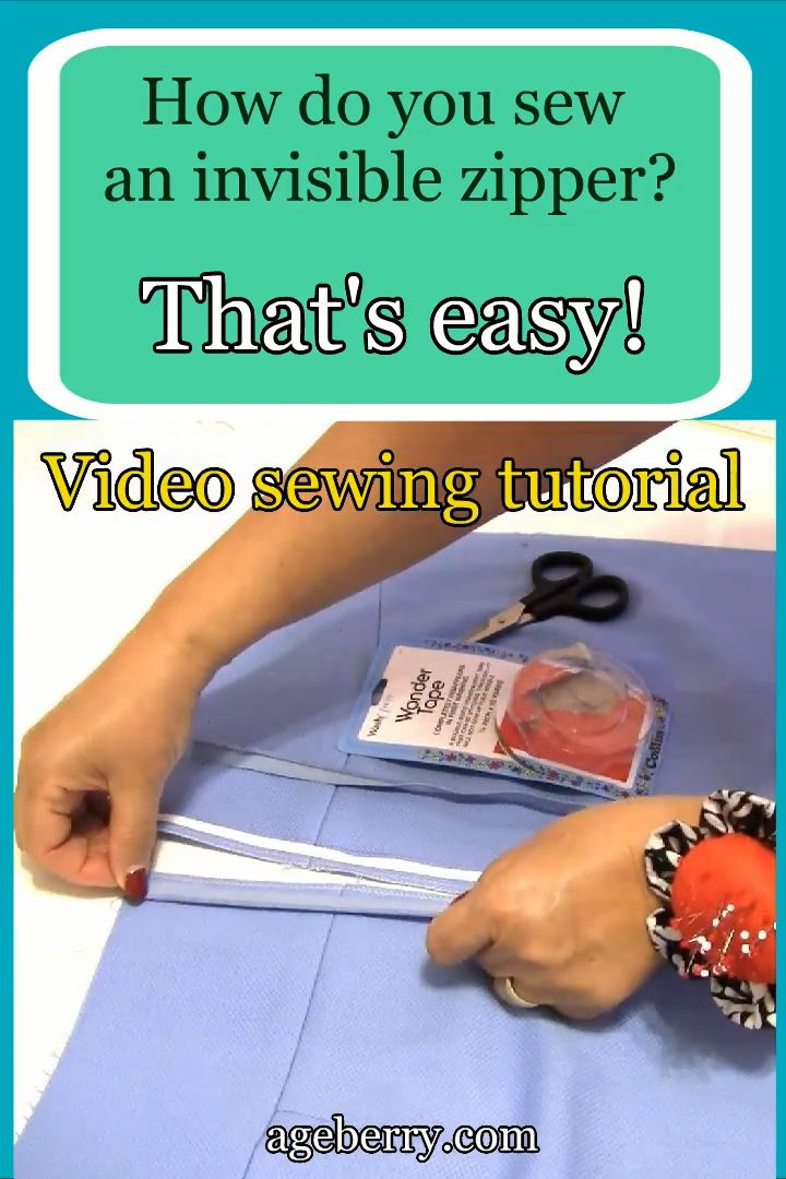 Find out how to sew an invisible zipper