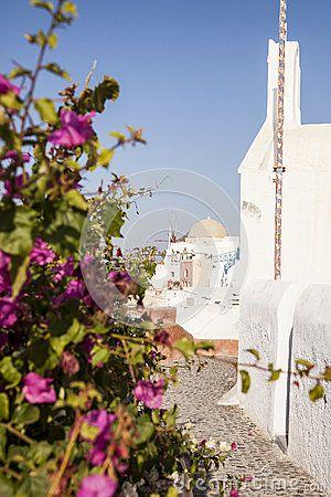 #oia #santorini #greekvillage #greece #bluedomes