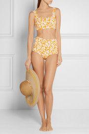 Bikini festonné imprimé Palm Springs